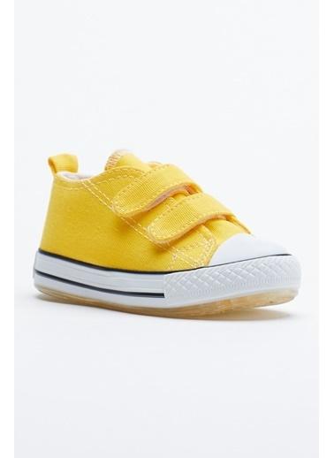 Tonny Black Sarı Çocuk Spor Ayakkabı Işıklı Cırtlı Tb997 Sarı